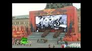 Възстановка на парада от 1941г на Червения площад в Москва