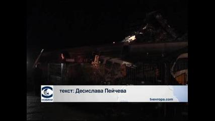 Една загинала и 22 ранени след две масови катастрофи в Северна Гърция