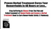 Herbal Hemorrhoids Cure - Safely & Painlessly