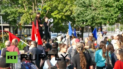 Canada: Protesters rally against Pan-Am Summits in Toronto