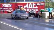 Mitsubishi Eclipse Gsx vs Acura Rsx драг състезание