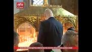 Волен Сидеров и Николай Валуев запалиха свещ в Руската църква в София /03.03.2016 г.