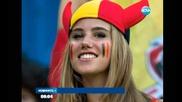 Момиче стана модел, докато гледа мач на Белгия