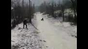 Пързаляне С Шейни В Село Ковачица