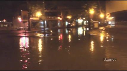 Наводнените подлези и потъналите във вода улици на Централна Гара в Пловдив 15.06.2014