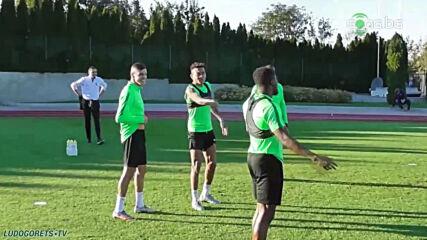 Първа тренировка на Кирил Десподов с Лудогорец