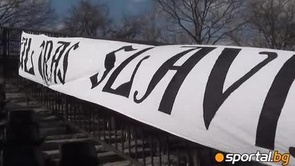 Ultras Slavia - choreography of the match with Levski