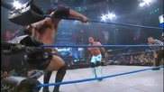 A.j. Styles - Leaping Corner Clothesline Followed By Running Falling Clothesline