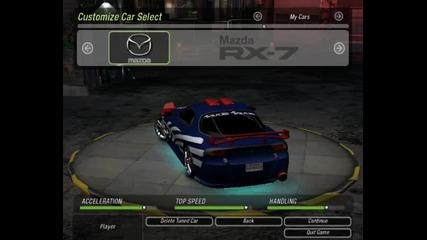 Nfs Underground 2 -- Cars