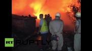 India: Huge fire destroys hundreds of slum dwellings in New Delhi