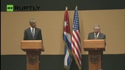 Raul Castro and President Obama Hold Historic Joint Press Conference