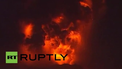 Chile: See Calbuco volcano emit LIGHTNING and LAVA