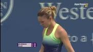 Simona Halep vs Kristina Mladenovic Cincinnati 2015 Set-1
