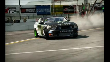 Shift 2 Drift Ford Mustang Monster Energy Falken tire Vaughn Gittin { H D }