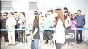 Genie with E X O - K Ar Show in Pusan, Korea (making film)