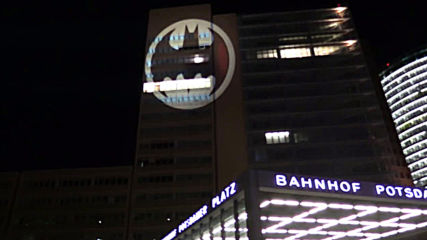 Bat signal shines over Berlin as the Caped Crusader turns 80
