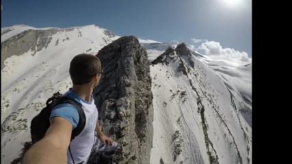 Екстремно изкачване по Средоноса в Пирин (2300м.н.в) Extreme solo climbing in Bulgaria
