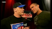 Raw 3 For All 06/15/09 John Cena & Randy Orton [ backstage]