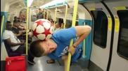 Майстор с футболна топка 99 ниво! Тоя направи разби всички в Лондон! Такова нещо не сте виждали!