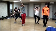 2am- Kara ' Step' + Wonder Girls ' Be my baby' dance practice
