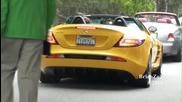 Yellow Mercedes Slr Mclaren Roadster