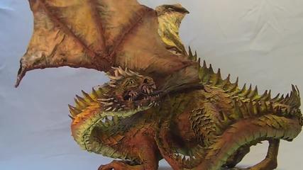 Реалистичен макет на дракон от хартии