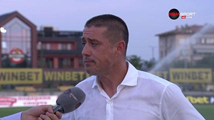 Енгибаров: Не съм доволен от резултата, но показахме друго лице