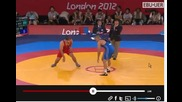 2012 Olympic Games- Freestyle Wrestling, Repechage 120kg , J. Flores (mex) vs D. Shabanbay (kaz)