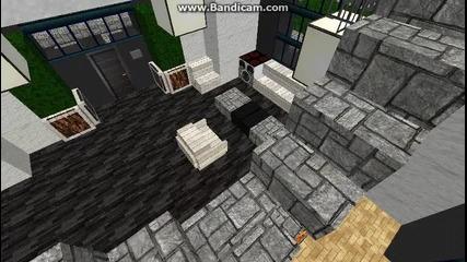 Minecraft Кръгла Къща Напълно обазведена и Градски Басейн
