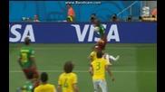 Камерун 1:4 Бразилия (бг аудио) Мондиал 2014