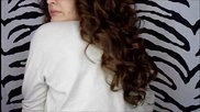 Къдрене с лента за коса (без топлина)