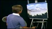 S05 Радостта на живописта с Bob Ross E03 - планинсо разцъфтяване ღобучение в рисуване, живописღ