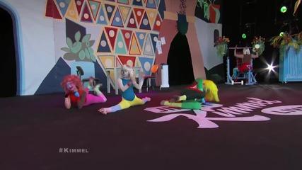 N E W! Sia - Chandelier на живо @ Jimmy Kimmel [официално] H D