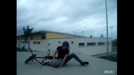 Това заболя доста - пребиване с колело