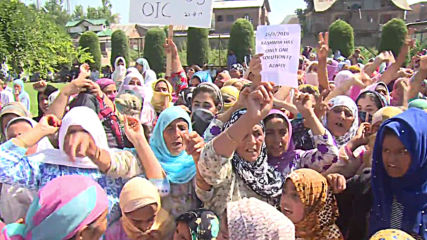 India: Thousands of protesters march for 'independent Kashmir'