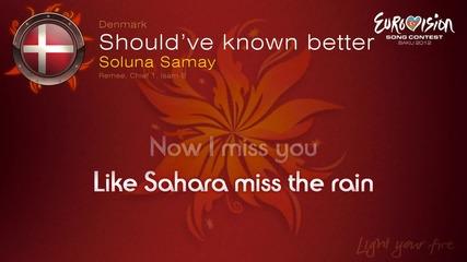 Евровизия 2012 - Дания | Soluna Samay - Should've Known Better караоке-инструментал