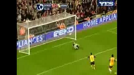 21.04 Втория гол на Фернандо Торес ! Ливърпул - Арсенал 4:4
