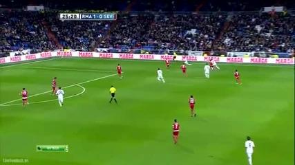 Страхотен гол на Кристиано Роналдо срещу Севилия