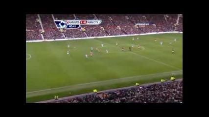 Manchester united vs Manchester city 1 - 0 Nani goal 12.02.2011