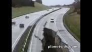 Голямо пропадане на пътя. Ужас !