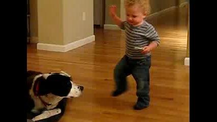 Бебешка покана за танц с куче