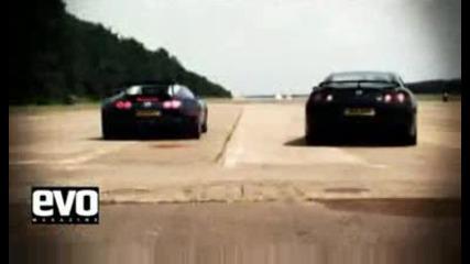 Nissan Gt - R sre6to Bugatti Veyron qko