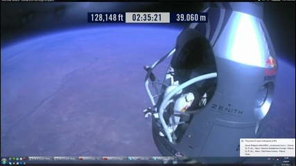 Felix Baumgartner jumped from the edge of space and completed his record space jump