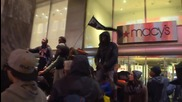 USA: Black rights protesters block Chicago's Magnificent Mile on Black Friday