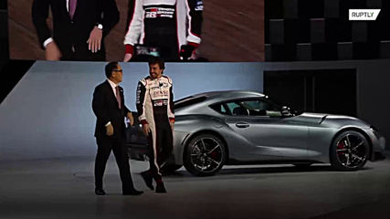 F1's Alonso appears on stage as Toyota announces return of Supra sports car