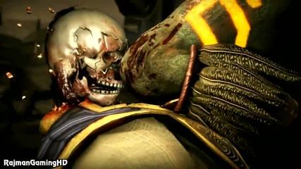 Mortal Kombat X - Raiden vs Kotal Kahn Gameplay + Fatality