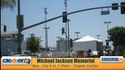 Michael Jackson Мемориала в Staples Center - Los Angeles