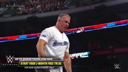 Shane McMahon elbow drops Braun Strowman through announce table: Survivor Series 2018 (WWE Network Exclusive)