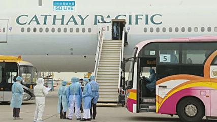Hong Kong: Diamond Princess Passengers arrive in Hong Kong for quarantine