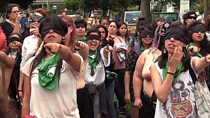 Peru: Topless activists perform anti-rape flashmob in Lima *EXPLICIT*